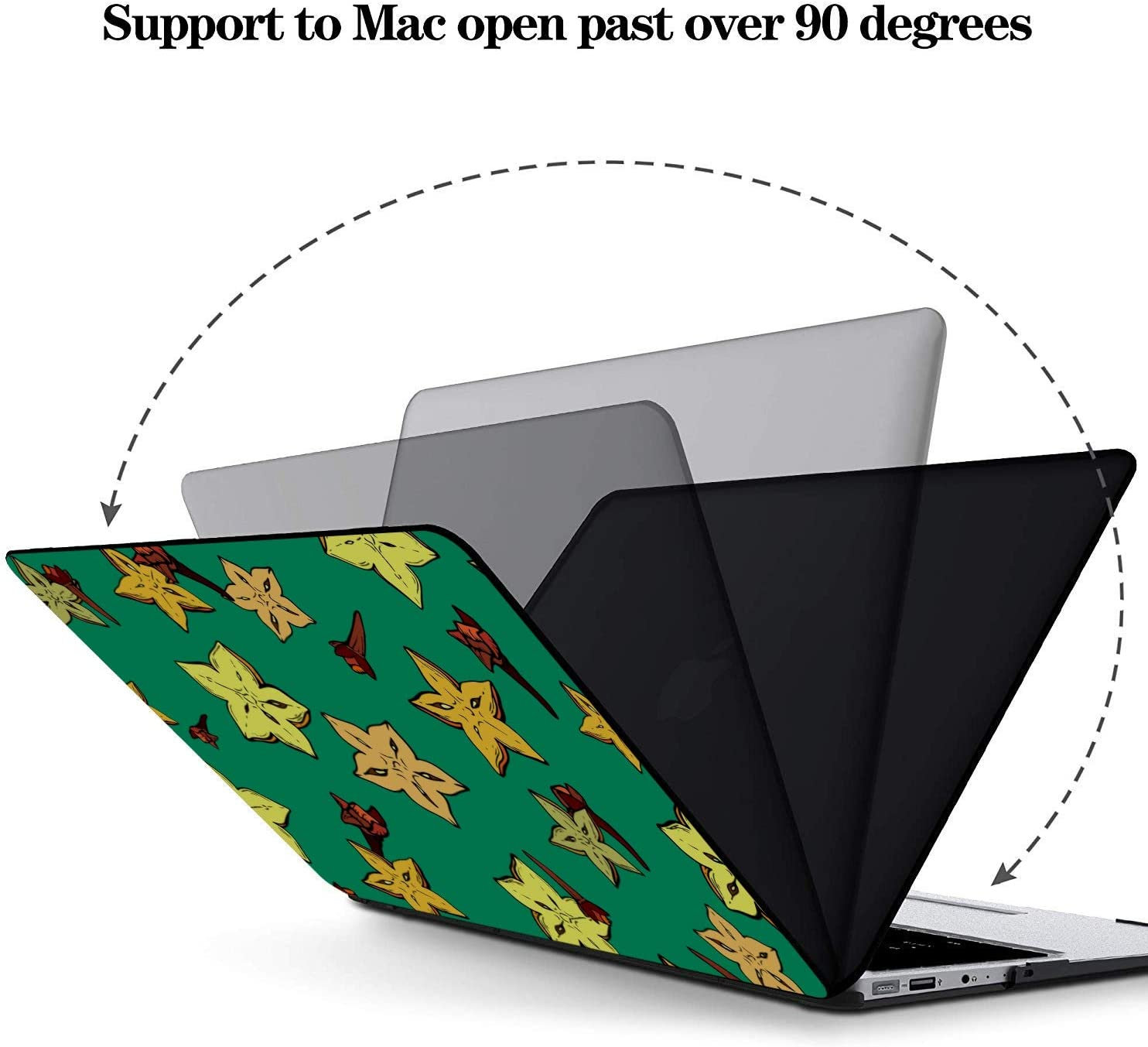 MacBook Air Case Rustic Fashion Cute Fruit Carambola Plastic Hard Shell Compatible Mac Air 11 Pro 13 15 Mac Book Air Covers Protection for MacBook 2016-2019 Version