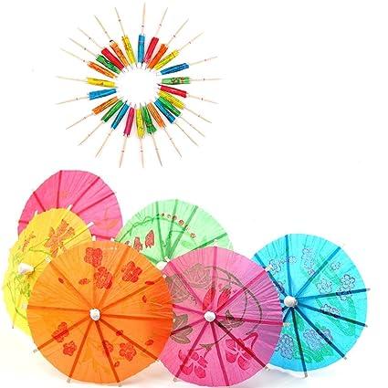 amazon com raylinedo 50 mixed paper cocktail umbrellas parasols