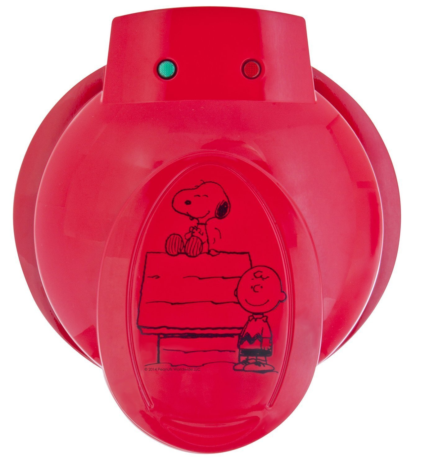 Smart Planet WM‐6S Peanuts Snoopy and Charlie Brown Waffle Maker, Red