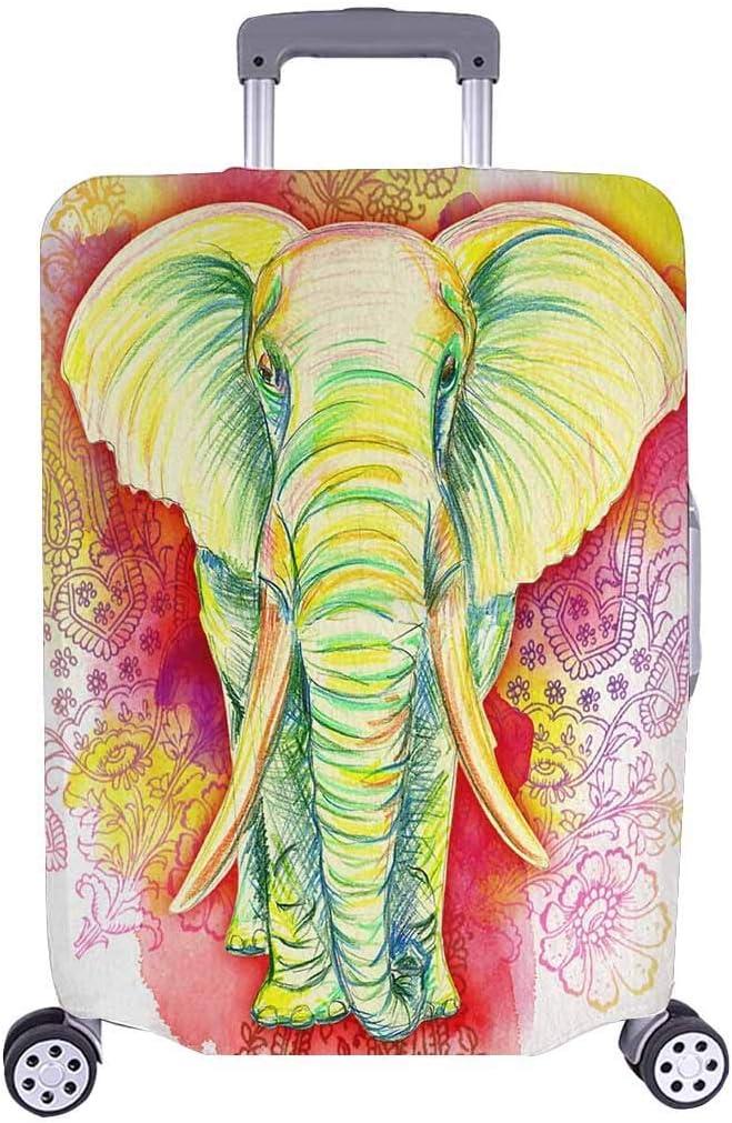Maleta de Viaje con Estilo de Elefante y Viaje de Elefantes de África de la Vendimia, Maleta de Equipaje de 20 Pulgadas