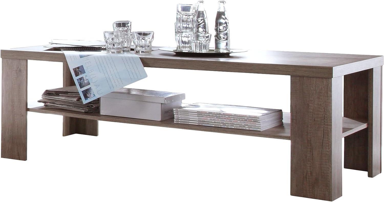 Mesa de centro 130 x 65 x 45 central base de madera de roble ...