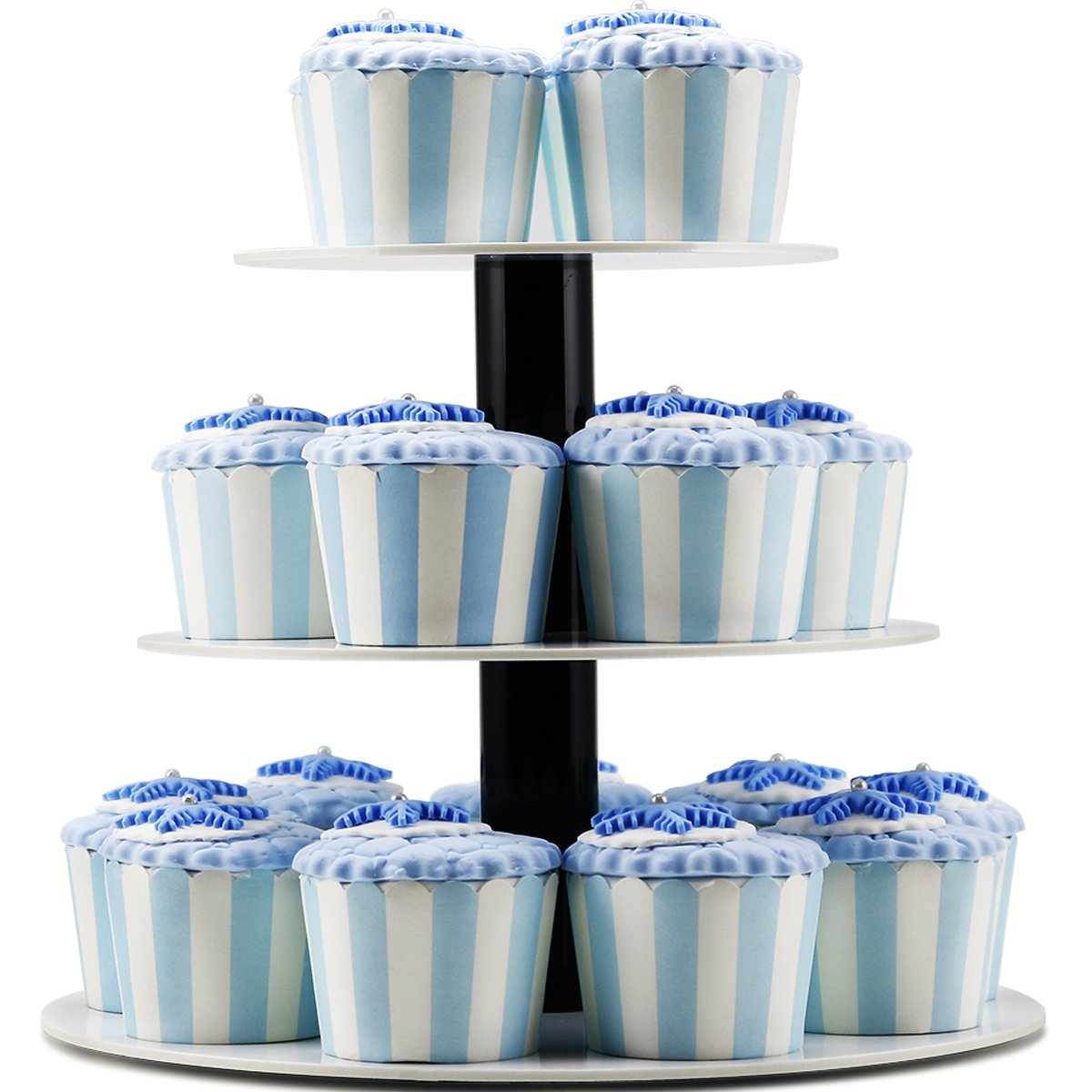 Dessert Stand,3 Tier Round White Dessert Stand, Wedding Pastry Stands for Cupcakes Dessert,Pastry, Tiered Acrylic Plastic Serving Dessert Stand For Birthday Party DYCacrlic