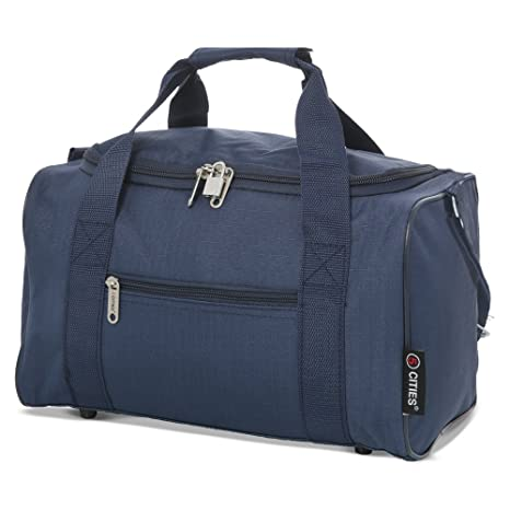5 Cities 5 Cities 35x20x20 Maximum Ryanair Cabin Hand Luggage Holdall Flight Bag (Navy)