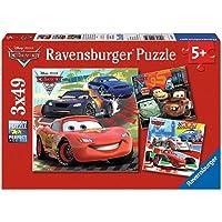 Ravensburger (92819) 3 X 49 Parça Puzzle Wd, Cars2 Yarış