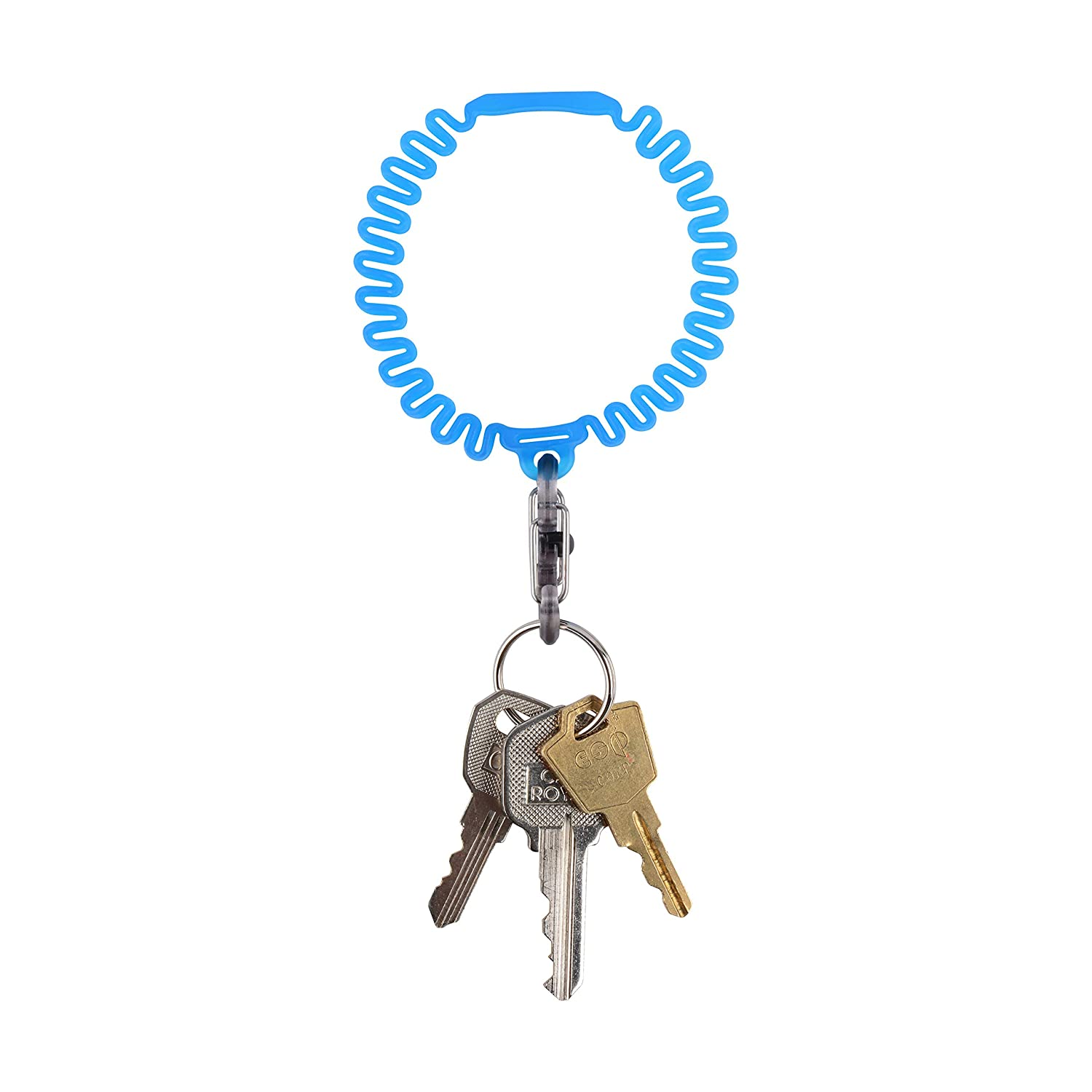 Blue Nite Ize Key Band-It Stretch Wristband Key Chain With S-Biner Clip