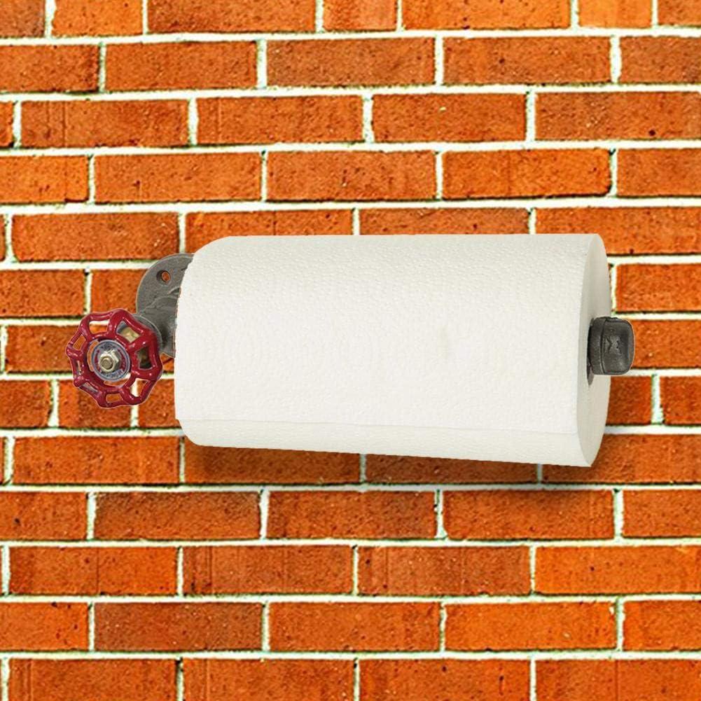 Portarrollos de papel higi/énico de estilo industrial decoraci/ón de tuber/ías resistente al /óxido papel higi/énico antiguo estilo DIY soporte de papel de pared para papel higi/énico