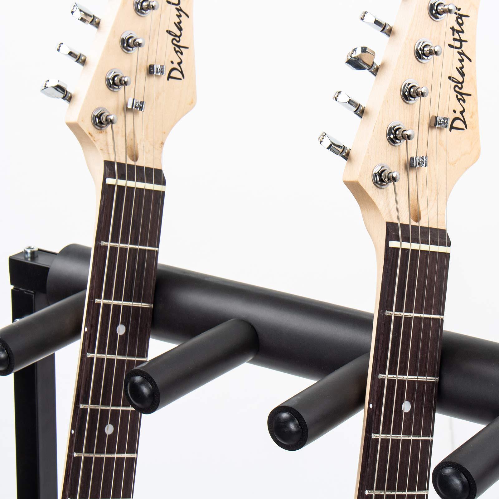 AJO Multi Guitar Stand,7 Holder Guitar Folding Portable Storage Organization Stand Display Rack,Black by AJO (Image #5)