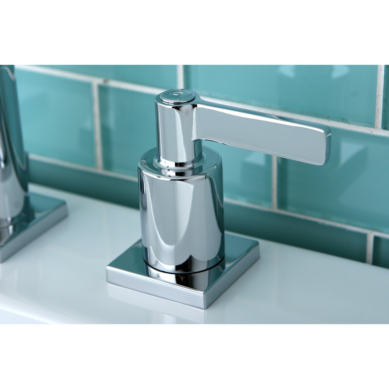 KINGSTON BRASS FS8961CTL Continental Widespread Lead Free Lavatory Faucet with Twin Lever Handles and Retail Pop-Up Polished Chrome