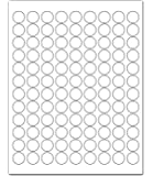 """3/4"""" White Round Labels for Laser and Inkjet Printers - 2700 0.75 Inch Dots/Pack"""