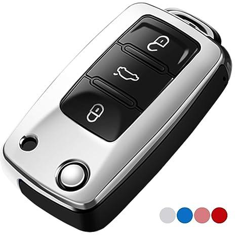 Amazon.com: Uxinuo - Funda para llave de Volkswagen Jetta ...