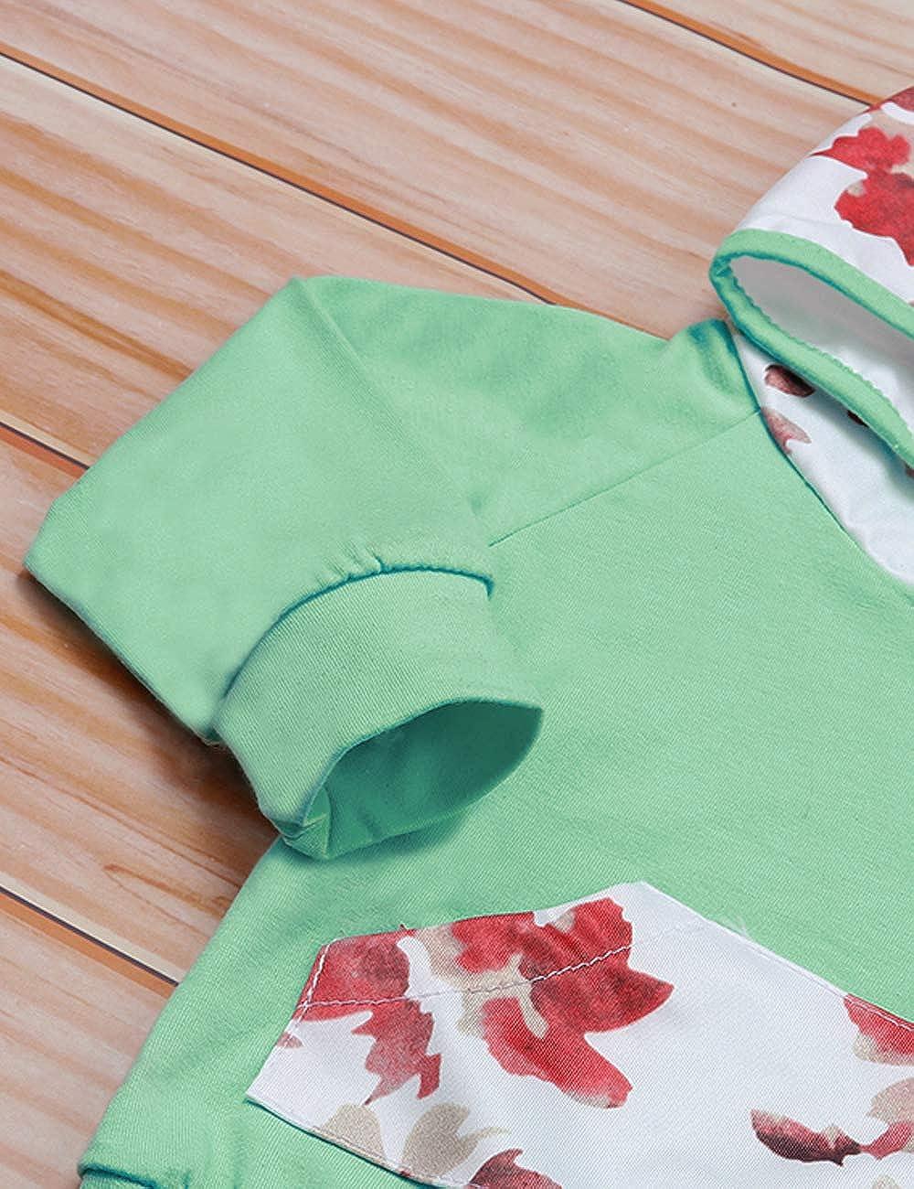 Newborn Baby Girl Outfits Set Elf Deer Print Long Sleeve Hoodies Sweatshirt Pants Headband Clothes Set