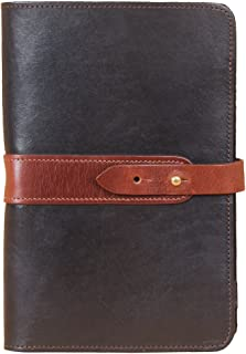 product image for Mens | Womens | Leather | Portfolio | Folio | Notebook | Business | Folder | Travel | Small | Black Brown | Made in USA