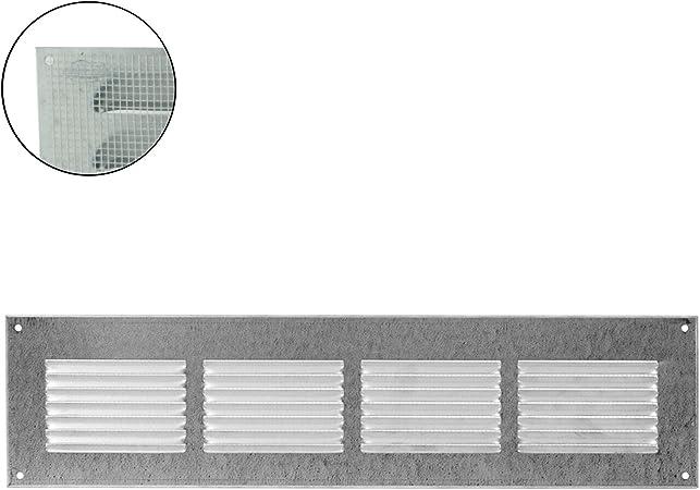 MKK entr/ée et sortie d/'air Grille de ventilation murale en m/étal Protection anti-insectes blanc 18526