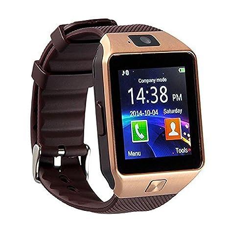 sudroid Libre Reloj móvil con Bluetooth cámara FM Touch Screen y Teclado multibanda Reloj Funda Phone