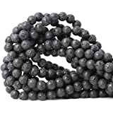 CHEAVIAN 45 颗 8 毫米天然粉紫翠宝石圆形散珠石珠用于珠宝制作 DIY 配件 1 条 38.1 厘米 熔岩石 8mm CV-HSY-8