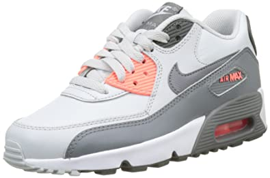 NIKE Air Max 90 LTR GS, Sneakers Basses Mixte Enfant, Blanc Cassé (Pure