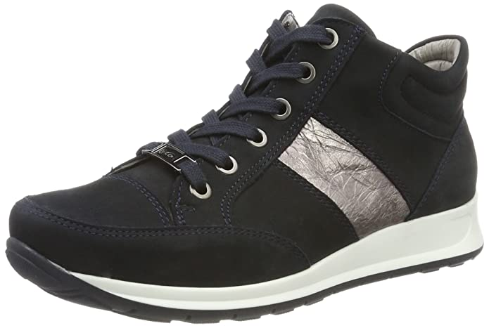 Womens Osaka Hi-Top Trainers, Blau-Titan Ara