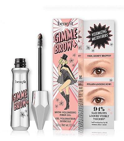 8207a7409c1 Amazon.com : Benefit Gimme Brow+ Volumizing Fiber Gel, 3 Medium Neutral  Light Brown, 1 Count : Beauty