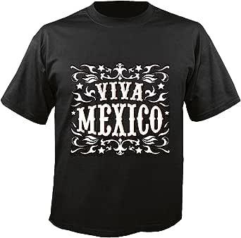 T-Shirt Camiseta Remera Viva Mexico Mexico Mexico Chili Peppers Mexicana New York América California EE.UU. Ruta 66 Camisa Motorista de la Motocicleta de New York NY Libertad DE LOS Estados Unidos DE: