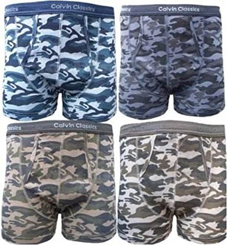 Mens Soft Cotton Fashion Camouflage Design Jersey Boxer Short Trunks XX-LARGE