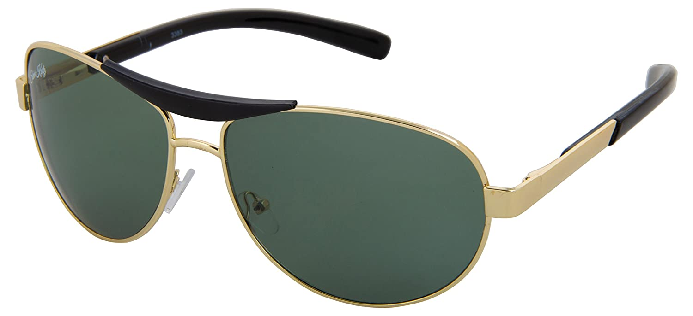 Silver Kartz UV Protected Aviator Unisex Sunglasses - (wc067 55 Green)
