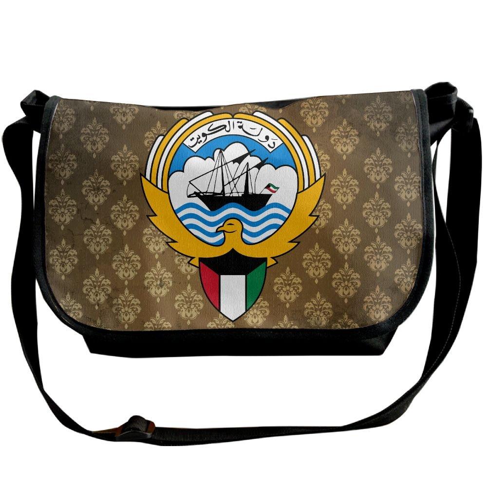 Lov6eoorheeb Unisex Coat Of Arms Of Kuwait Wide Diagonal Shoulder Bag Adjustable Shoulder Tote Bag Single Shoulder Backpack For Work,School,Daily