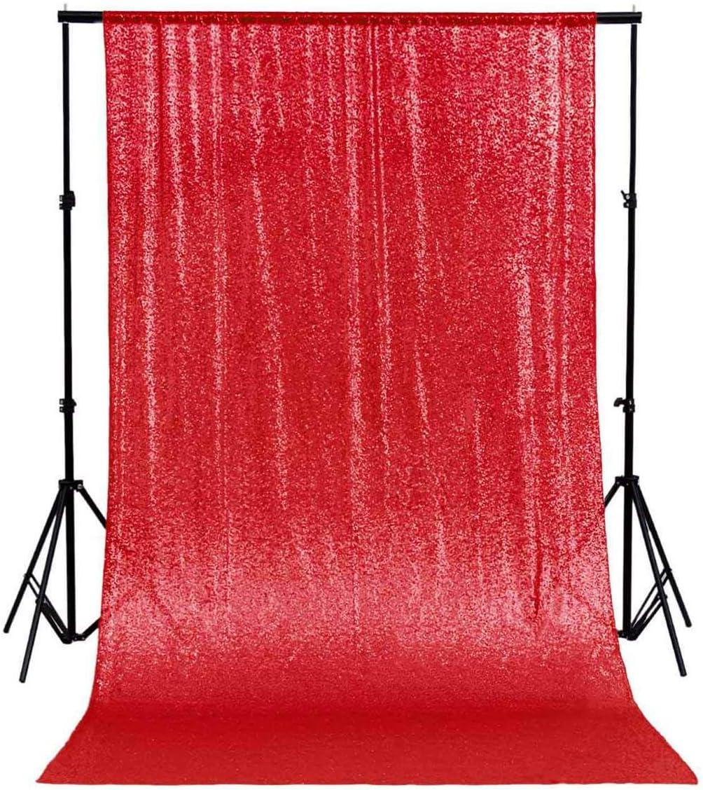 Shinybeauty 8 Ftx8ft Pailletten Backdrop Curtain 96 X Beton Premium Qualität Glitz Booth Fotografische Hintergrund Für Weihnachten Hochzeit Decor 8ftx8ft Rot Küche Haushalt