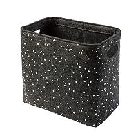 luxdag Aufbewahrungskorb Premium Design aus Filz | Handtücher Zeitungen Toilettenpapier Aufbewahrung Windeln | dezent elegant freistehend | Toilettenpapierhalter für 4 Rollen