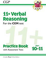 New 11+ CEM Verbal Reasoning Practice Book & Assessment Tests - Ages 10-11 (with Online Edition) (CGP 11+ CEM)
