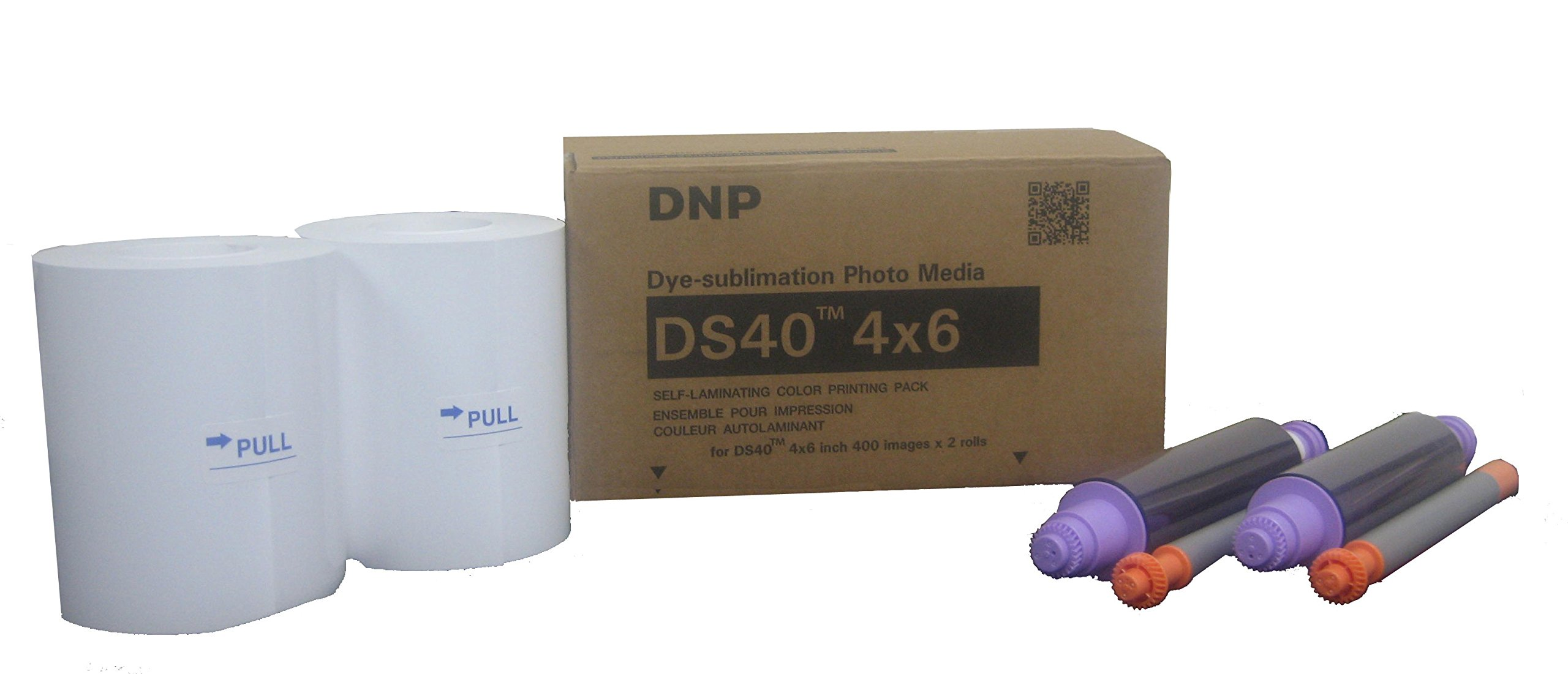 DNP DS40 Dyesub Printer Perforated Media 4x6/800 Glossy Prints (2 Rolls of 400) by DNP DS40