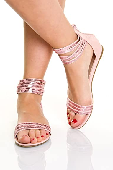 Gladiator Damen Sandalen Sexy Schuhe Römer Riemchen OknXw80P