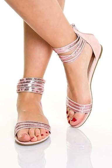 Riemchen Römer Schuhe Sexy Damen Gladiator Sandalen H9IbDWEYe2