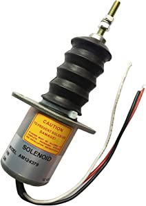 Fuel Shut Off Solenoid Valve AM124379 Fit For John Deere 415 455 445 F915 F925 F935 Front Mower Lawn and Garden Tractors