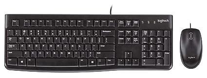 9da85f0d392 Logitech Desktop MK120 Durable, Comfortable, USB Mouse and keyboard Combo