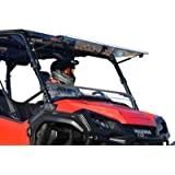 SuperATV Scratch Resistant Clear Flip Windshield for 2016+ Honda Pioneer 1000/1000-5 | Hard Coated on both sides for Extreme