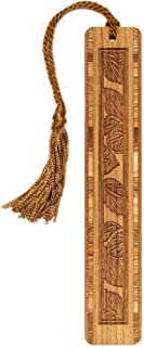 product image for Leaves - Botanical - Tree Engraved Wooden Bookmark