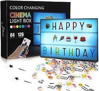 Caja de Luz para Pescua Tamaño A4 Jeteven Lightbox LED con Letras Emoji y Números  