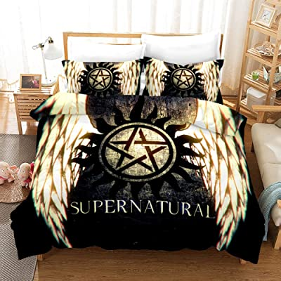 Lisabridal Duvet Cover Set Kids 3D Supernatural Duvet Cover Set 3 Pieces Bedding Sets 1Duvet Cover.2Pillow Shames,Queen/Twin/Full/King, No Comforter: Home & Kitchen