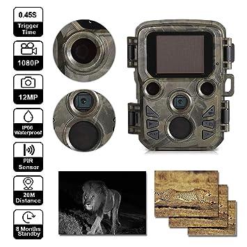 YTIANG Cámara Wildlife Cámara Trail 1080P 12MP Cámara de visión ...