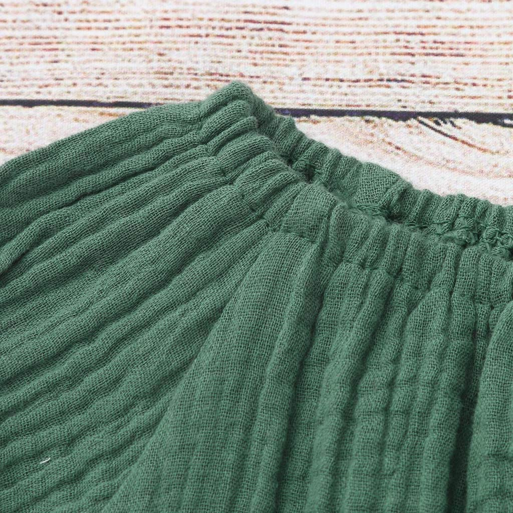 Baby Girls Dress,Fineser Toddler Baby Girls Flare Sleeve Solid High Waist Lace Flare Dress Sundress Skirt Clothes
