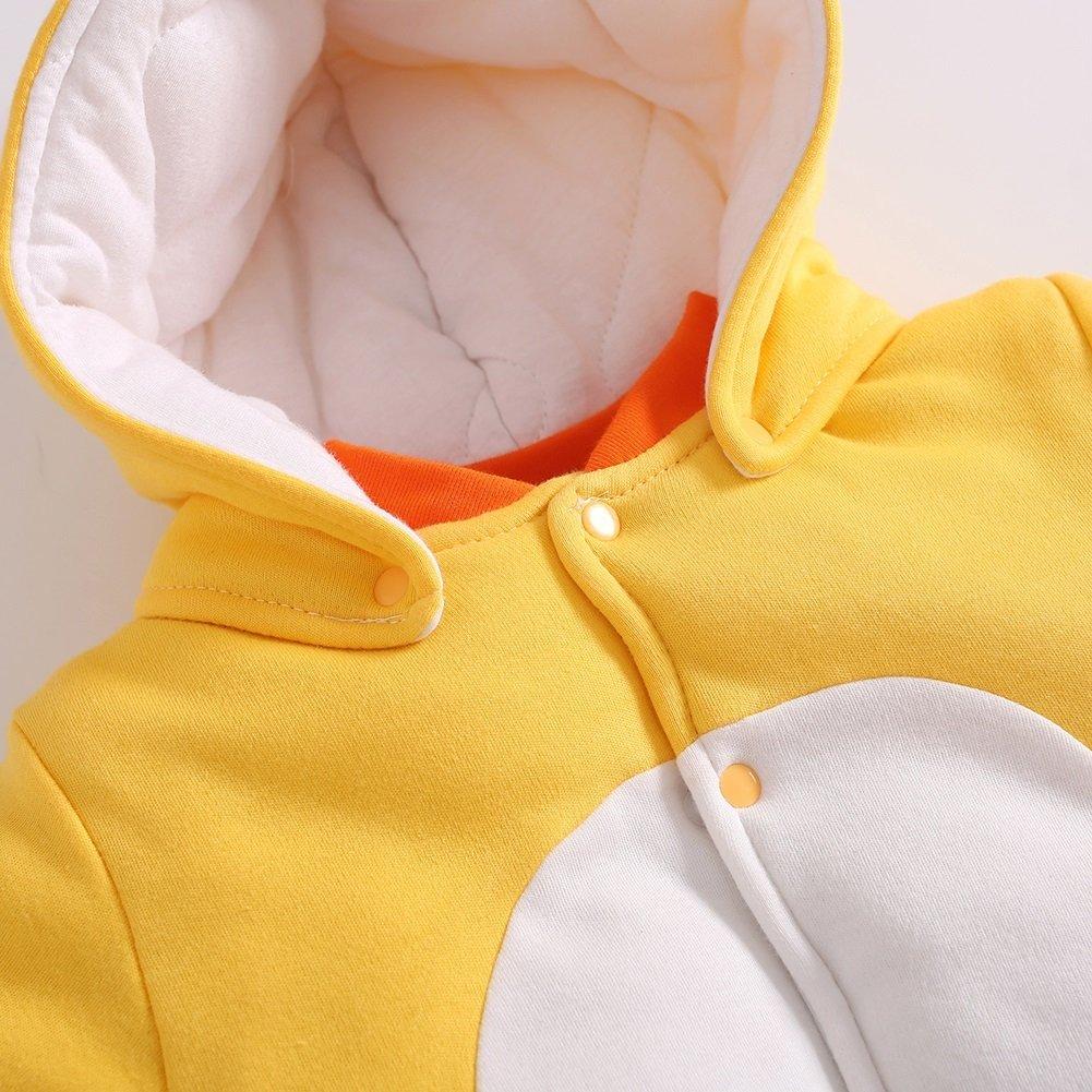 Ragazze Ragazzi Tutine e body Jumpsuit Inverno Tutine Cartone Animato Abbigliamento Set Pollo giallo//59 Bambino Pagliaccetti Neonato Tutina