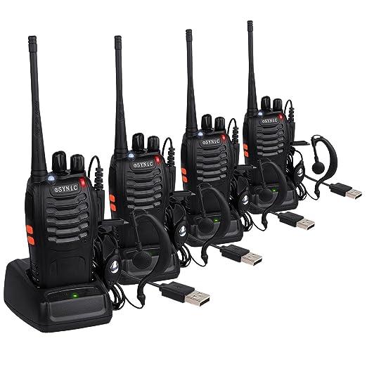 150 opinioni per ESYNiC Paio Walkie Talkie Lunga Distanza Due-Via Radio UHF 400-470MHz con