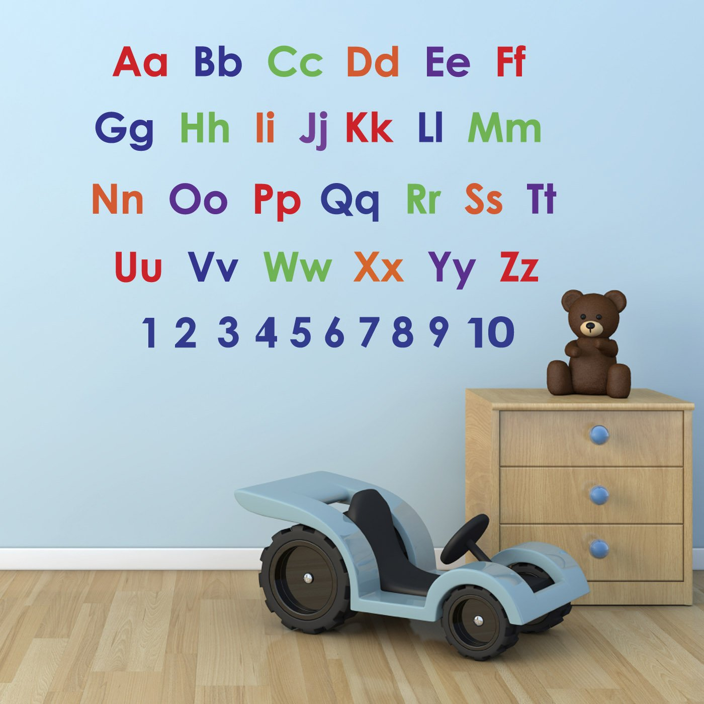 Alphabet And Numbers Wall Sticker Pack   Educational Nursery Stickers:  Amazon.co.uk: Kitchen U0026 Home Part 44