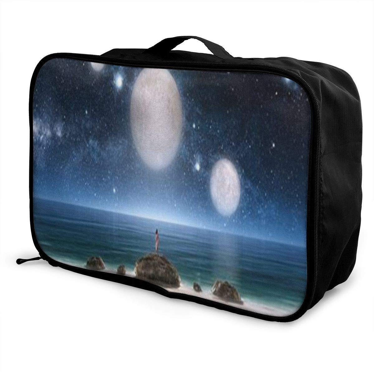 Travel Luggage Duffle Bag Lightweight Portable Handbag Fantasy Sky Print Large Capacity Waterproof Foldable Storage Tote