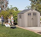 グリーンライフ(GREEN LIFE) 家庭用収納庫 HS-132 園芸農具の収納にピッタリ ライトグレー