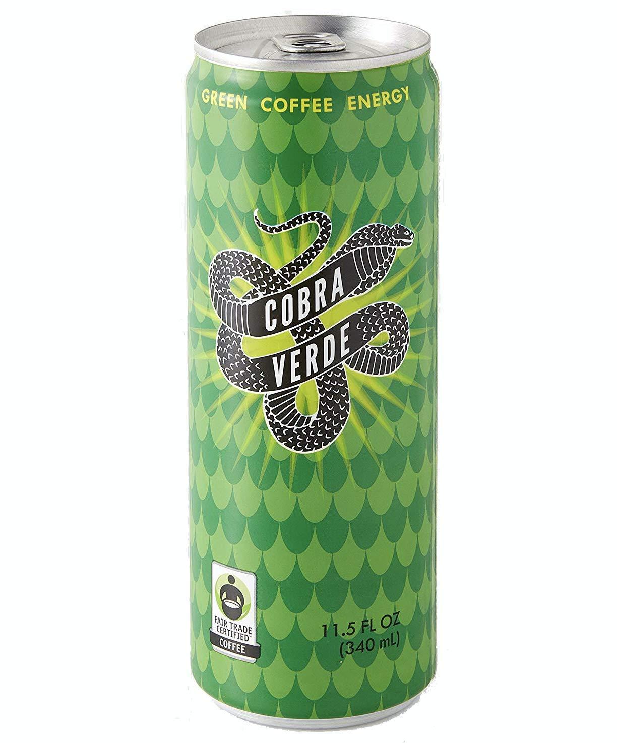 Cobra Verde Green Coffee Citrus Beverage, Fair Trade Certified, - 11.5 Fl Oz | Pack of 24 by Cobra Verde