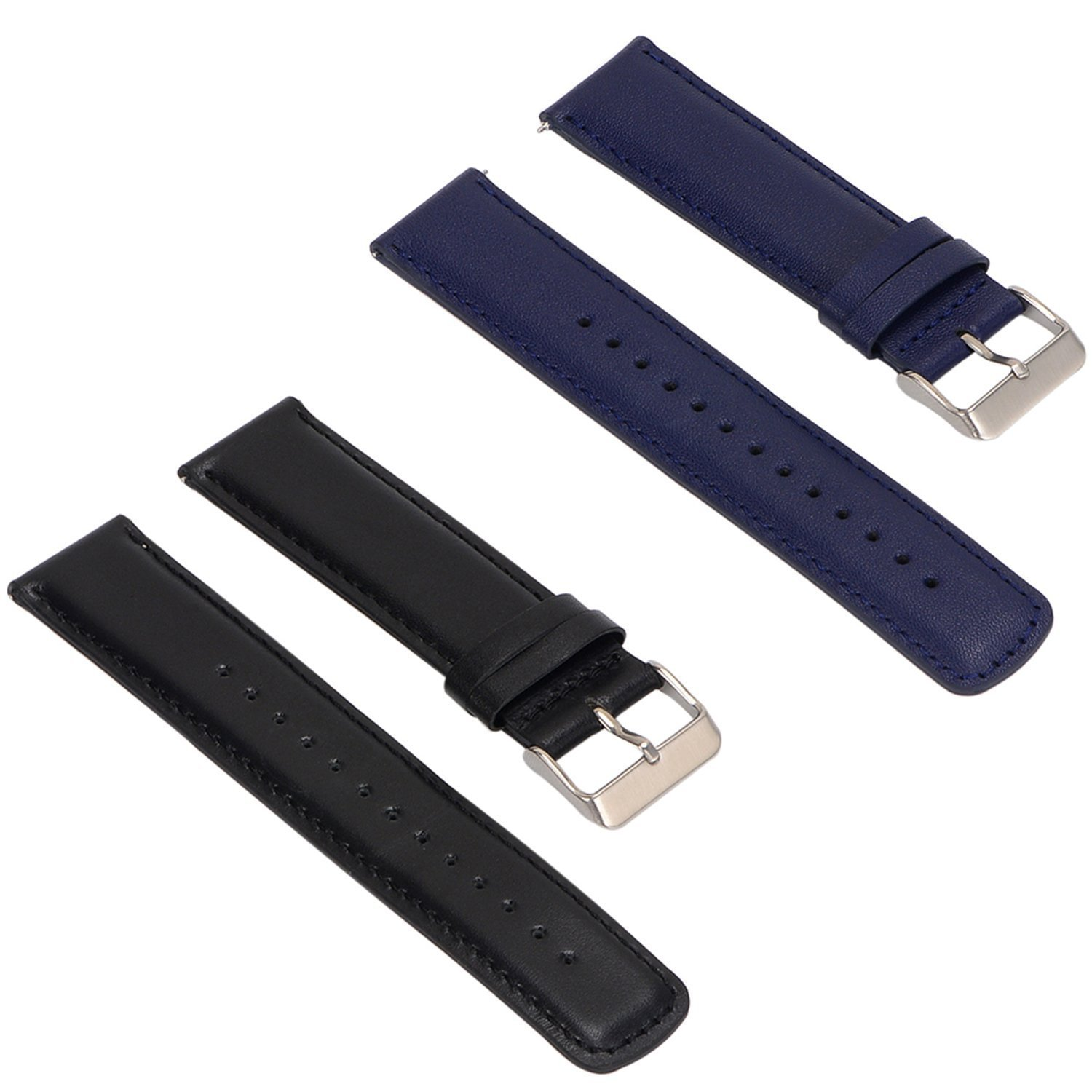 Amazon.com: ECSEM 2pcs Replacement Leather Bands Straps for ...