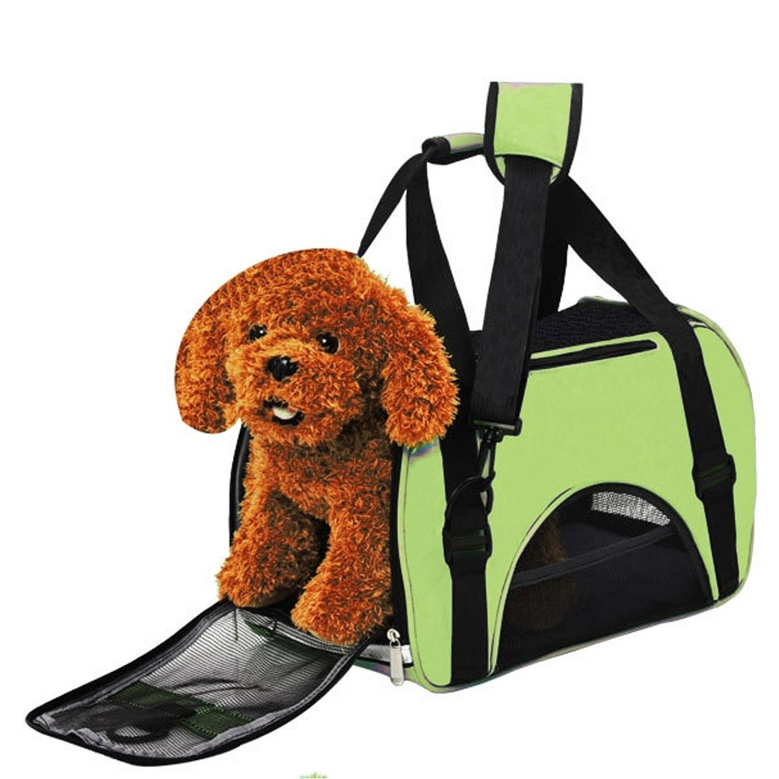 VAXT Sizing:503423cm, Conduct Raincoat Portable Pet Handbag Shoulder Bag for Cat/Dog and oher Pets Large (Color : Green)