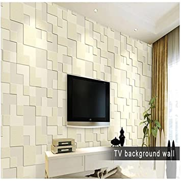 Buy LussoLiv 10m Modern Simple 3D Mosaic Living Room Non woven