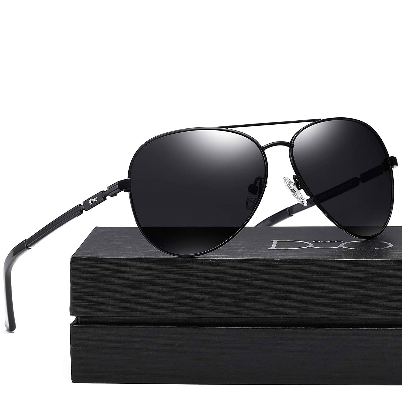 DUCO Coole Fliegerbrille Sonnenbrille Klassische Unisex Pilotenbrille Verspiegelt UV400 Filterkategorie 3 CE 3025K SH3025K-Gold